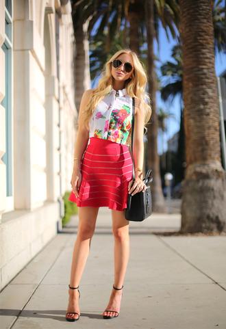 angel food top skirt shoes bag sunglasses