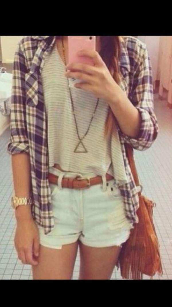 bag blouse shirt tank top jewels shorts