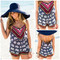 Beach tribe elephant print romper – amazing lace