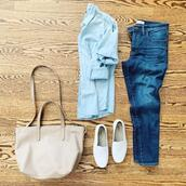 thesmallthings,blogger,top,jeans,shoes,bag