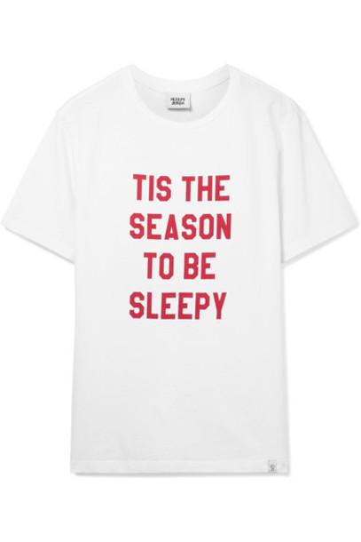 Sleepy Jones t-shirt shirt cotton t-shirt t-shirt white cotton top