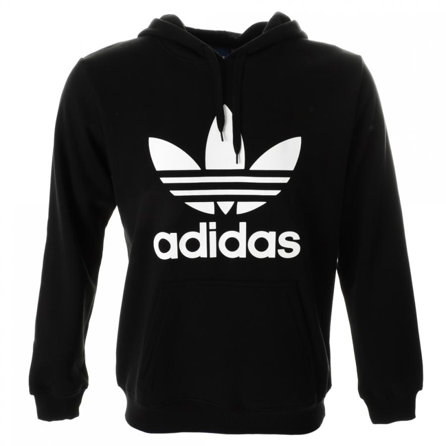 Adidas Originals Adidas Originals Trefoil Hooded Jumper Black