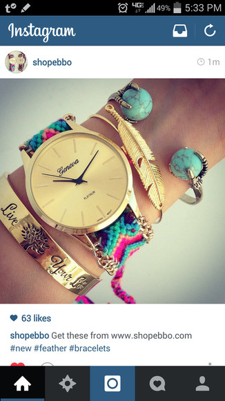 turquoise jewels watch bracelets topaz geneva feathers