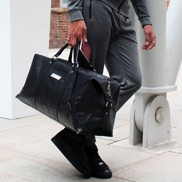 Bag: maniere de voir, snake embossed, holdall, weekend bag, mens ...