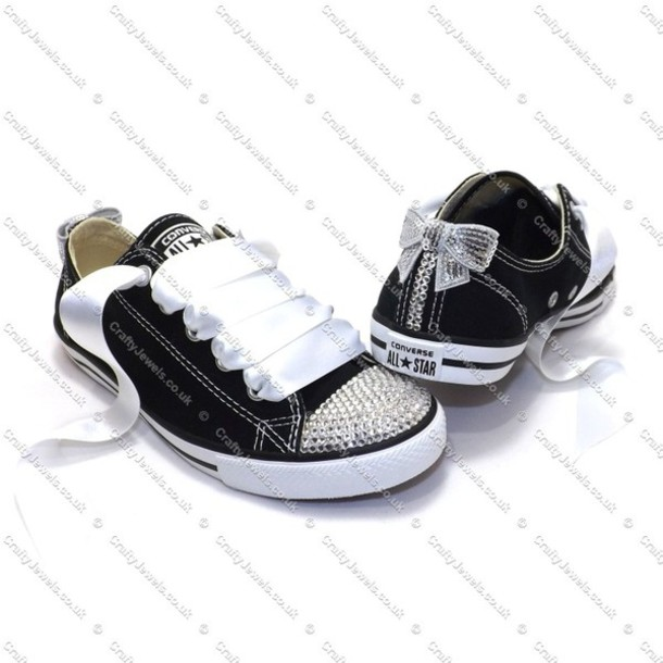 4ab427f6e706 shoes converse crystal swarovski black chuck taylor all stars prom shoes  wedding shoes