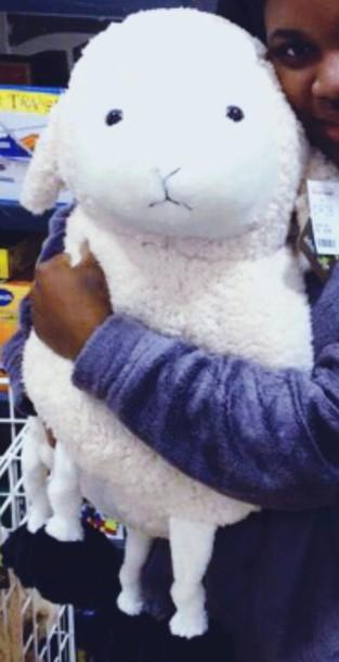 home accessory white sheep homegoods