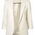White Boyfriend Ponte Rolled Sleeves Blazer - Sheinside.com