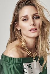 top,off the shoulder,olivia palermo,necklace,blogger,tibi