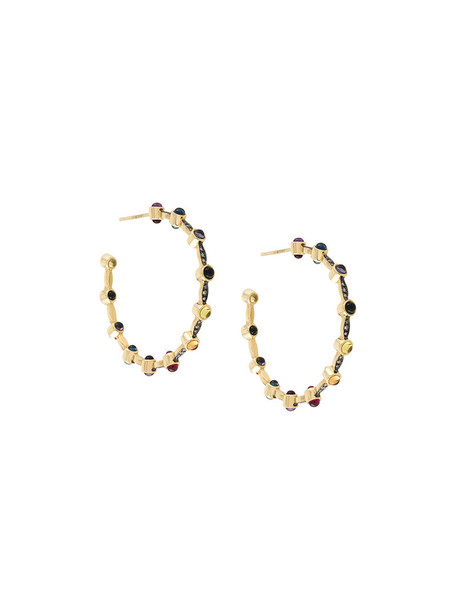 Noor Fares women earrings grey metallic jewels