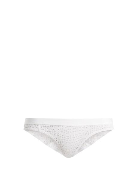 NEGATIVE UNDERWEAR mesh white underwear
