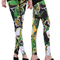 Free shipping fashion graffiti green flower tight 9 minutes of leggings for woman/girls on luulla