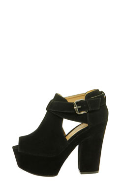 Bonnie suedette cut out detail chunky platform heels at boohoo.com