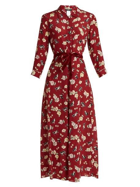 WEEKEND MAX MARA dress print burgundy