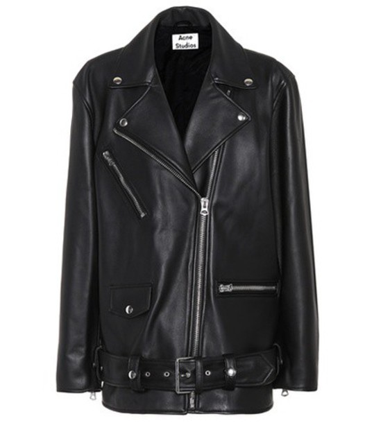 Acne Studios jacket leather jacket leather black
