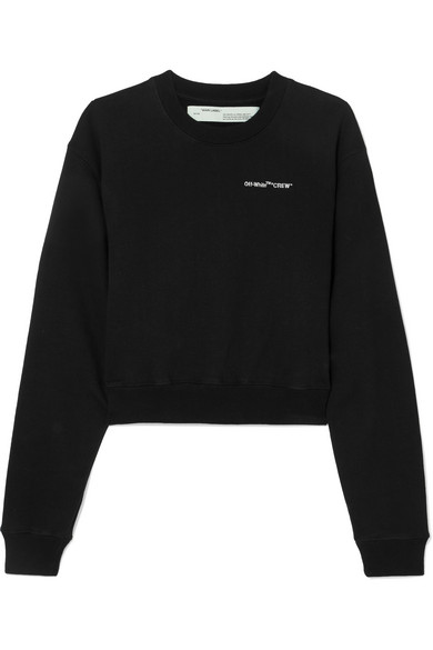 Off-White - Printed cotton-jersey sweatshirt