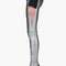 Barbara bui silver pebbled leather leggings for women | ssense