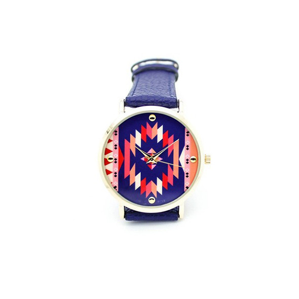 Blue aztec watch