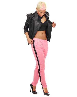 tuxedo pants pink pants pants