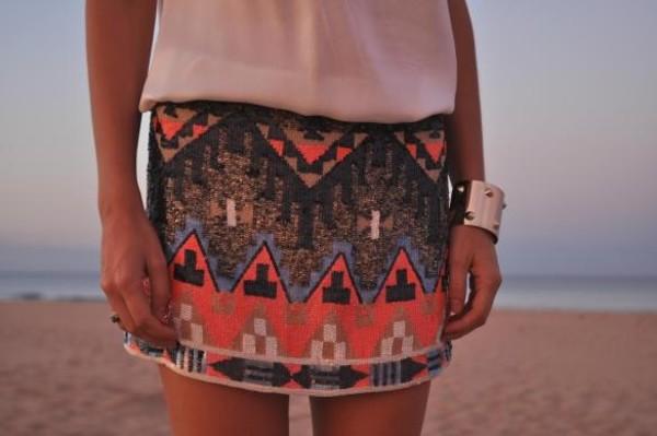 skirt sequin skirt coral skirts aztec skirts tribal skirts mini skirt skirt