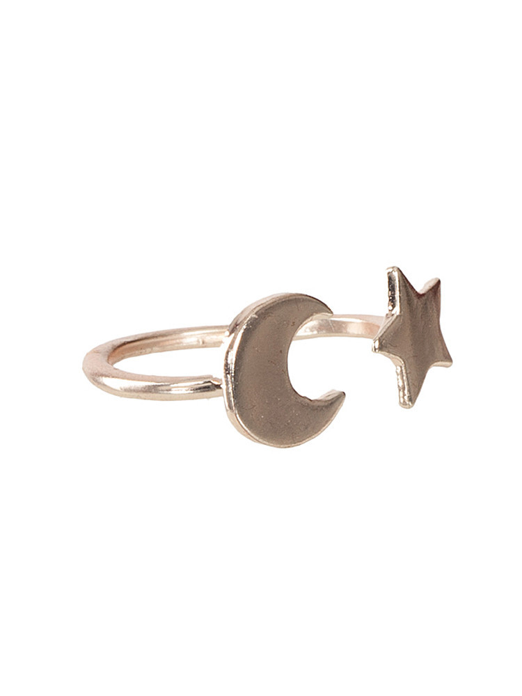 Galaxy moon & star fine polished ring – lilypop boutique