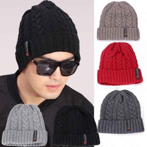 Fashion Men Cool Korean Men s Classic Winter Warm Knit Hat ... eff6eddb474