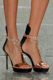 shoes,jeweled sandals,sexy sandals,bronze,classy heels,elegant heels,evening shoes,wedding show,high heels