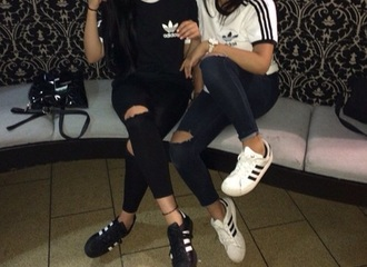 shirt adidas black white adidas shirt tumblr shirt shoes top nike grey jeans tumblr girly superstar