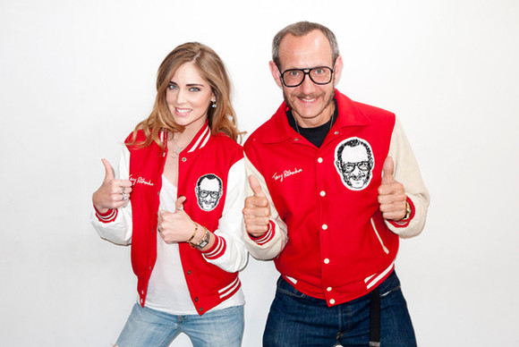 blonde salad jacket terryrichardson chiara ferragni varsity jacket red