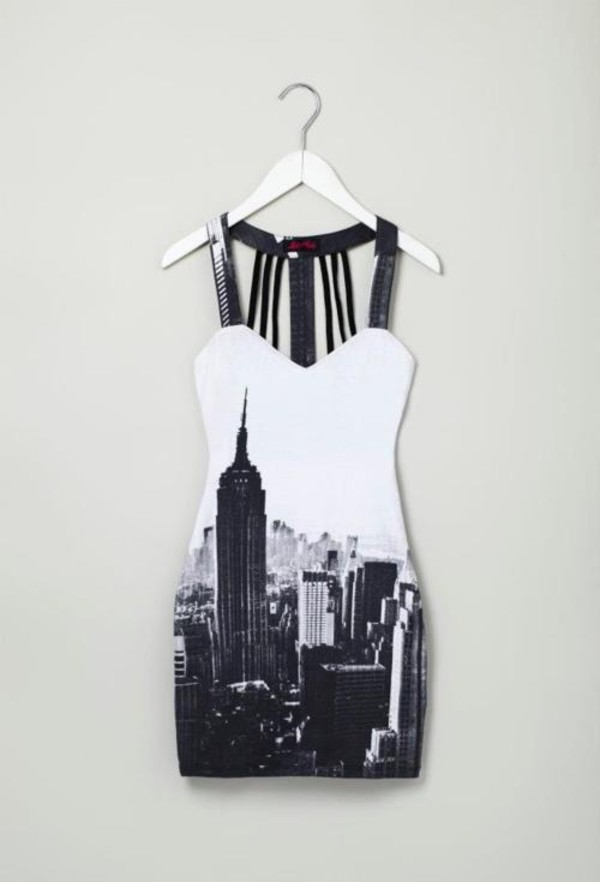 dress dress clothes new york city cocktail dress black and white dress