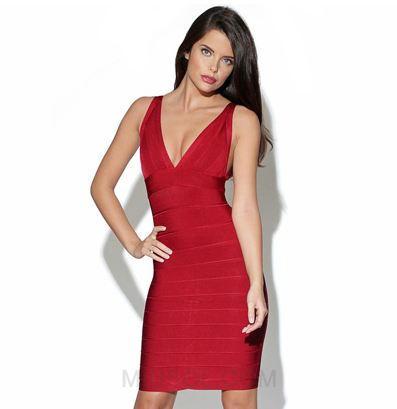 Free shipping 2014 new hot Sexy Bandage Dress Mini Bodycon Evening Celebrity Party Club Yellow Red Blue Plus Size A21 | Amazing Shoes UK