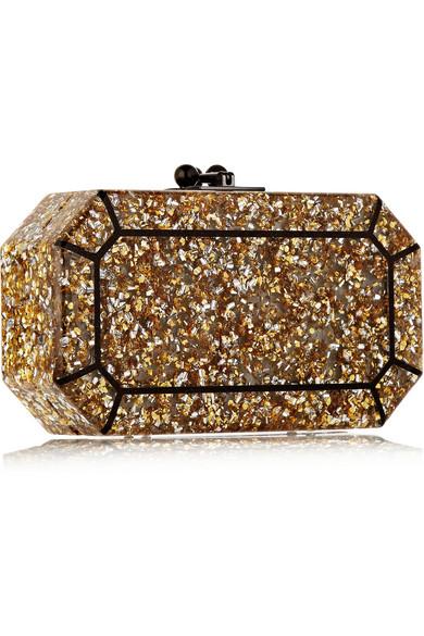Fiona glittered acrylic box clutch