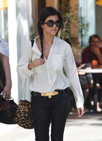 bag leopard print kourtney kardashian leopard bag shirt