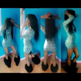 dress aztec dress fashion cute black and white short dress short fitted dresses cute dress girly