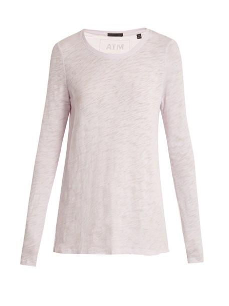 ATM t-shirt shirt t-shirt cotton light purple top