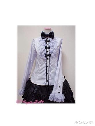 blouse purple black bows pastel goth kawaii lolita