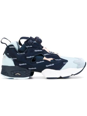 women sneakers print blue shoes