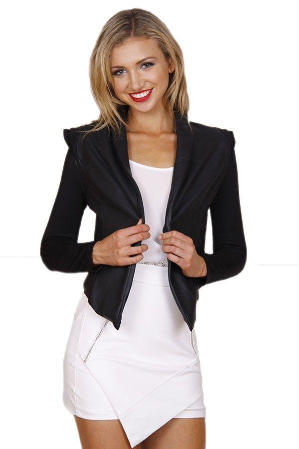 jacket black jacket black pleather pleather jacket pu leather jacket pu leather lined jacket www.ustrendy.com