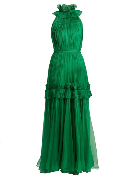Maria Lucia Hohan gown pleated green dress