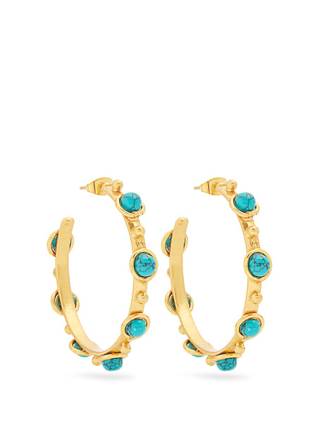 Sylvia Toledano earrings gold blue jewels