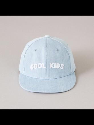 hat blue cool kids tumblr pastel aesthetic cap light blue pastel blue baby blue