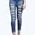 Jess Mid Rise Slashed Leg Super Skinny Jeans