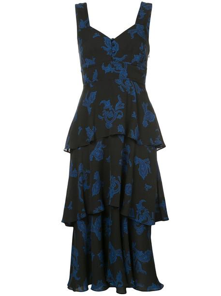 A.L.C. dress ruffle dress ruffle women black silk