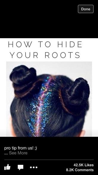 hair accessories glitter hair glitter cool from twitter hair buns dark hair hair styles