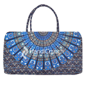 bag,handbag,mandala handbag,hippie mandala handbag,blue bag,travel bag,cool travel bag