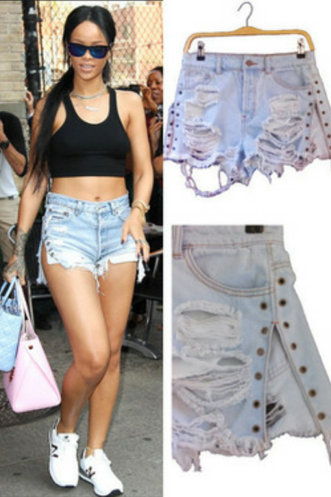 Celebrity inspired defrayed shorts from sydiachic boutique on storenvy