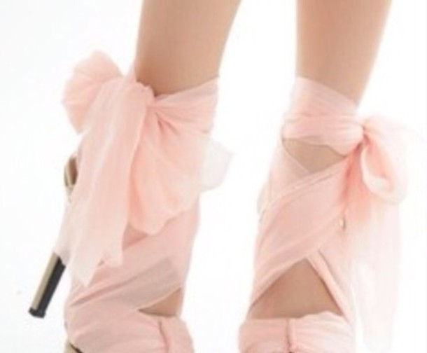 shoes pink shoes ribbon classy high heels