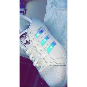 shoes adidas originals white stripes reflective colorful