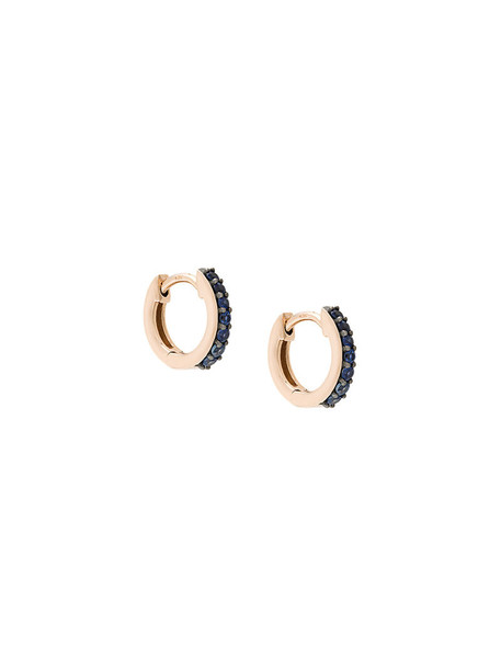 Astley Clarke mini rose gold rose women earrings hoop earrings gold grey metallic jewels