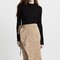 Merrin ruffled wrap skirt (khaki)