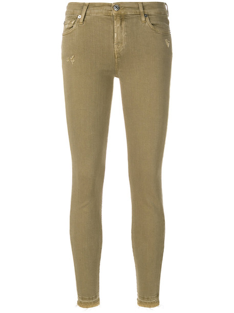 7 For All Mankind jeans women fit nude cotton